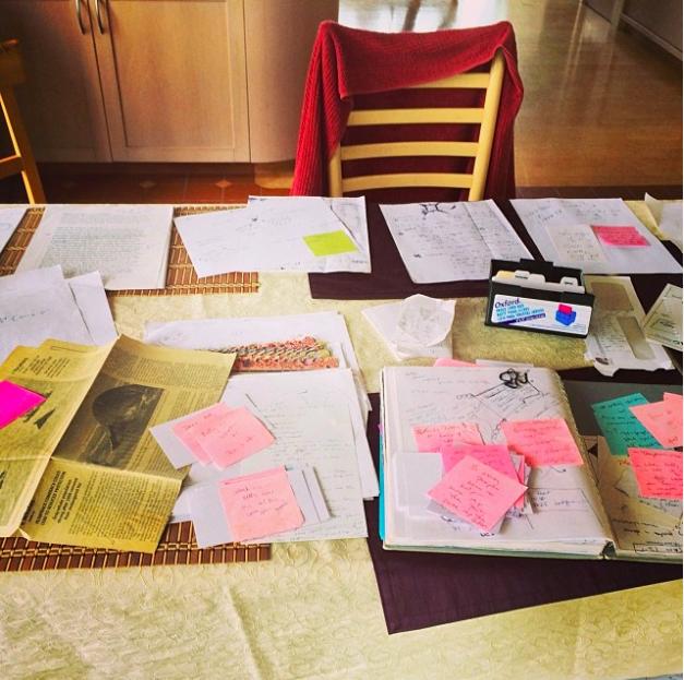 Ahhh...the writer's desk.