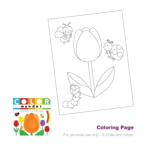 COLOR WONDER HOORAY FOR SPRING! COLORING PAGE