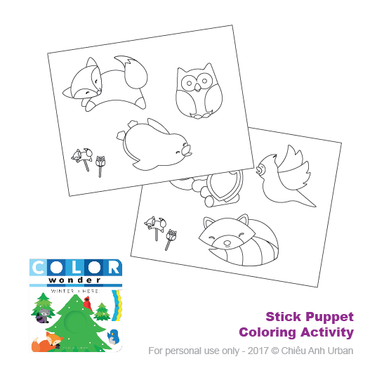 COLOR WONDER WINTER IS HERE! STICK PUPPETS
