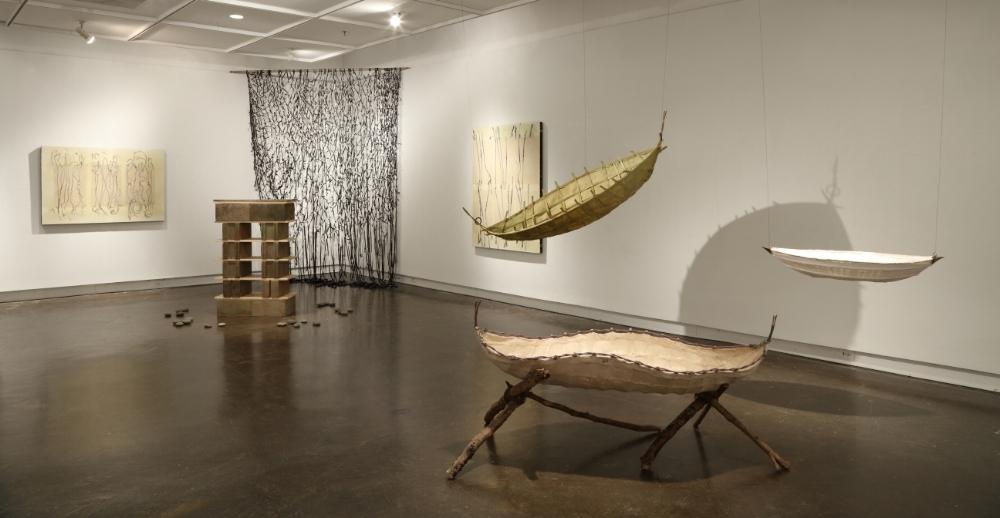 Installation view-  Antediluvian , MFA thesis exhibit, May 2018, Welch Gallery, Georgia State University