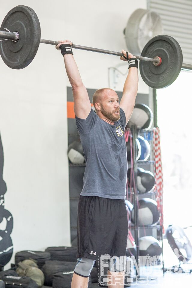 The happiest I've seen Nick while doing Thrusters.