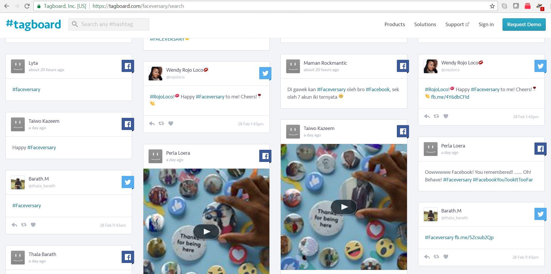 tagboard.com cross platform social media search tool