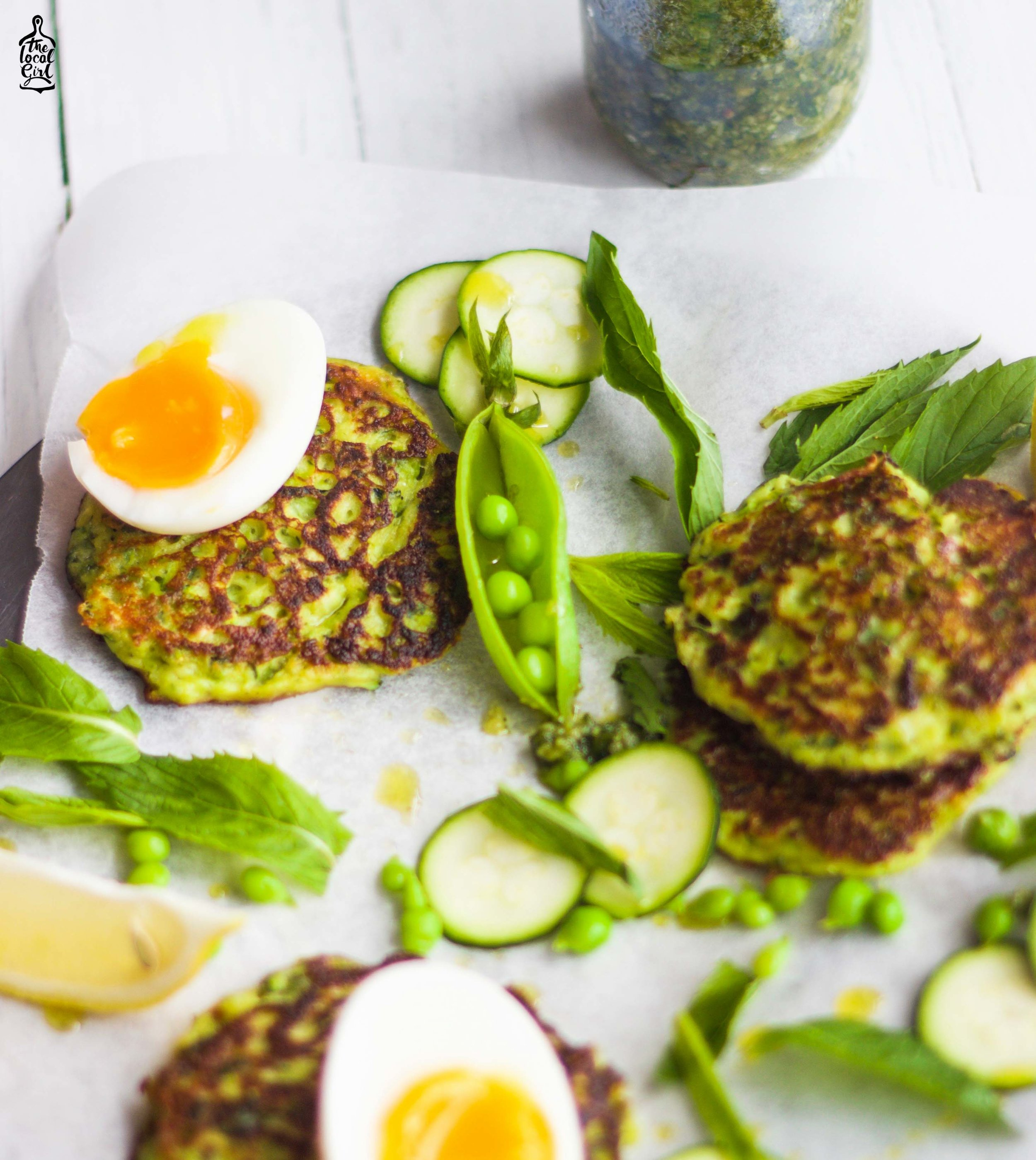 Pea and Zucchini Fritters