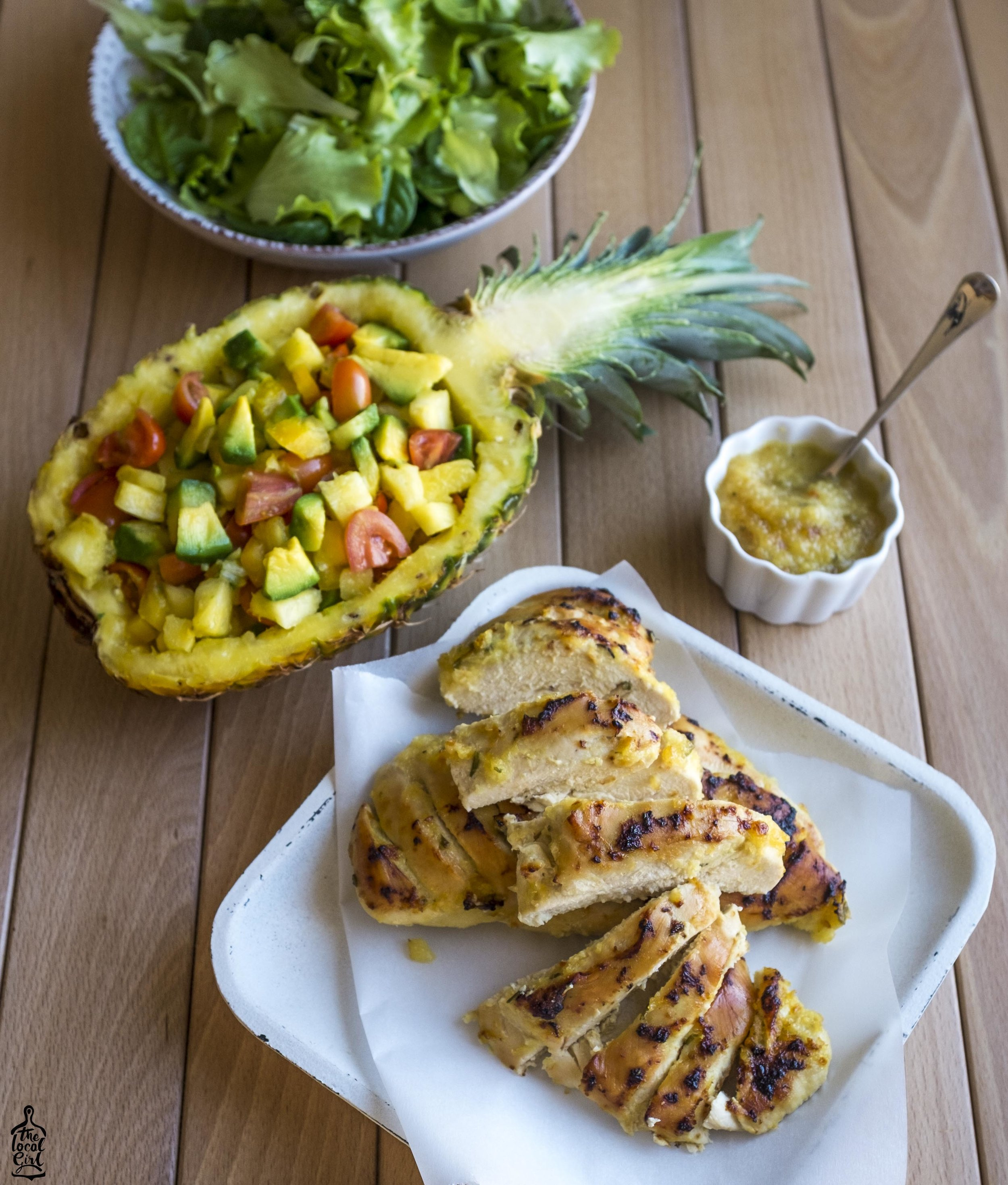 pineapple BBQ chicken