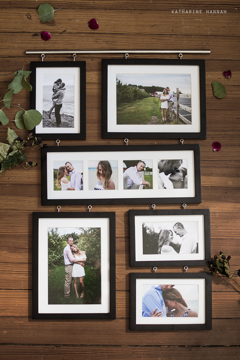 Framed photographs of Chicago engagement session