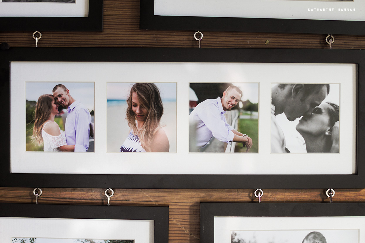 Engagement session framed photographs