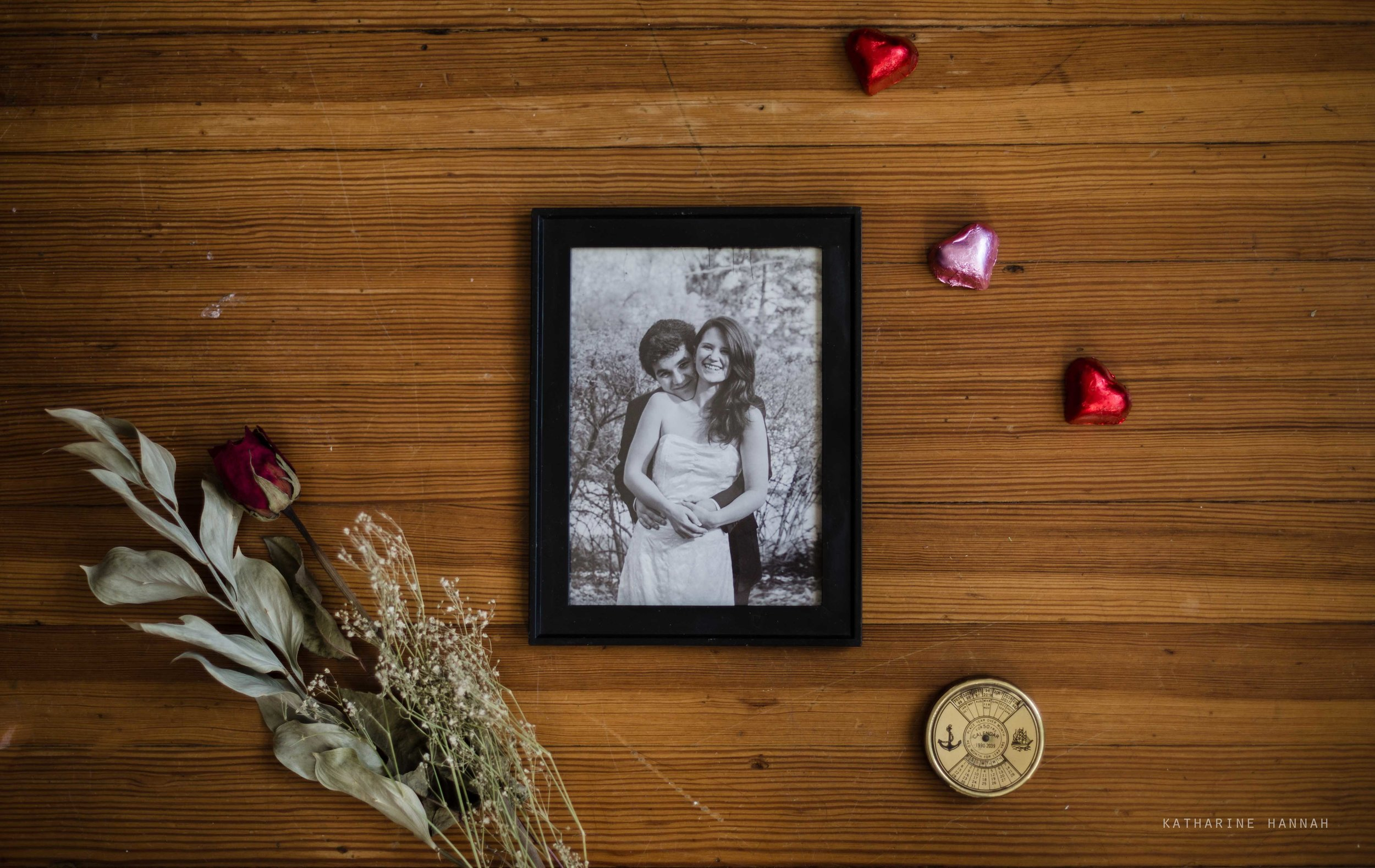 Printed photo of couple on anniversary for Valentine's Day