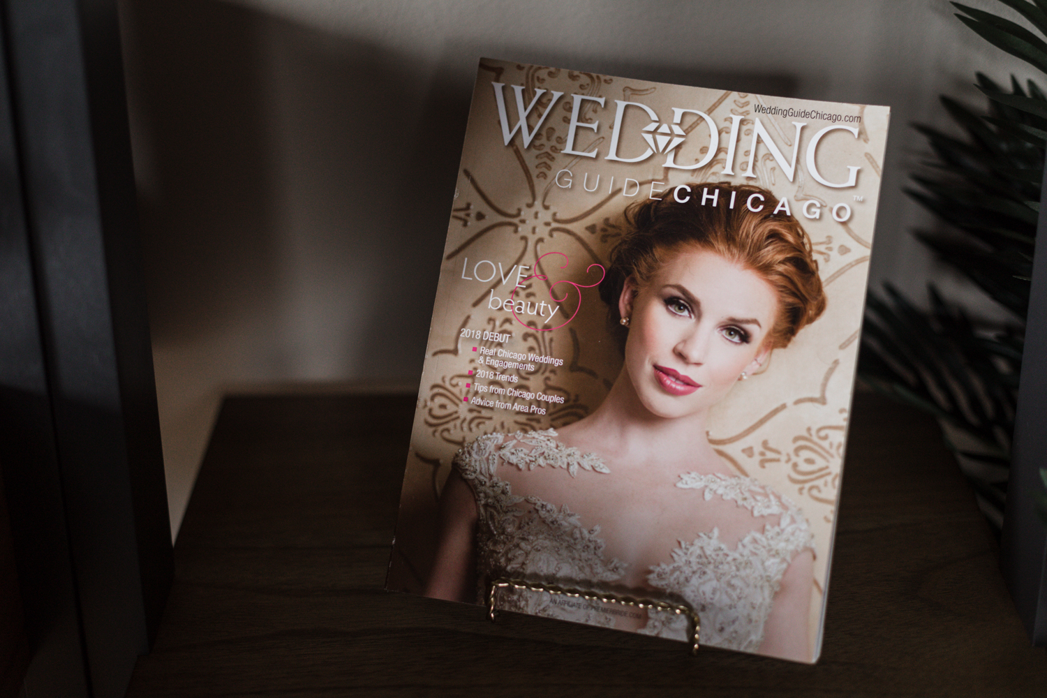 Wedding Guide Chicago with Deco Adamo's beauty company's work on the cover