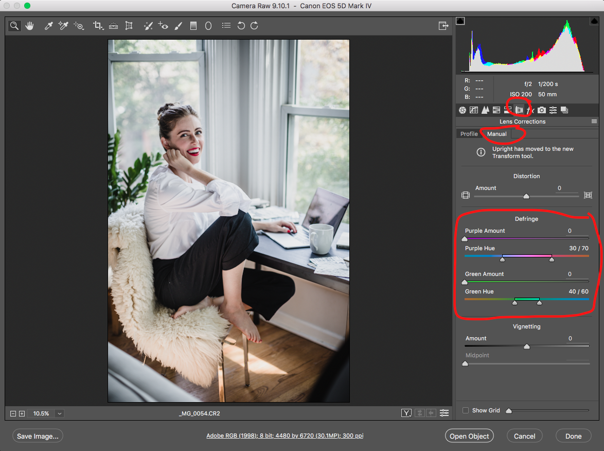 How to fix chromatic aberration in Photoshop, a simple visual guide on how to correct your images by photographer Katharine Hannah