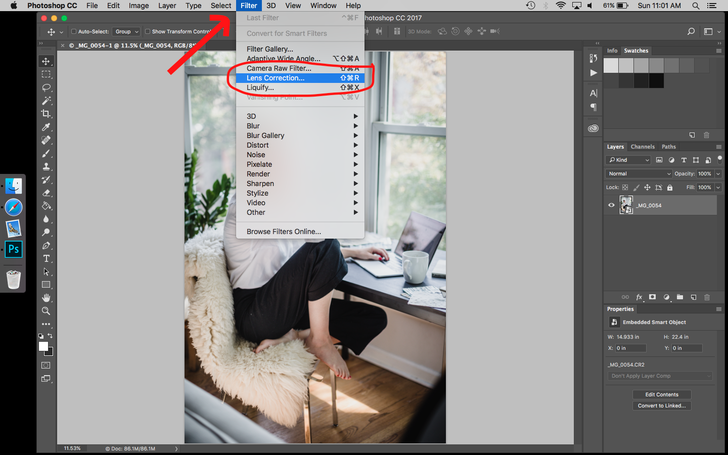 How to use lens corrections filters in Photoshop to fix chromatic aberration