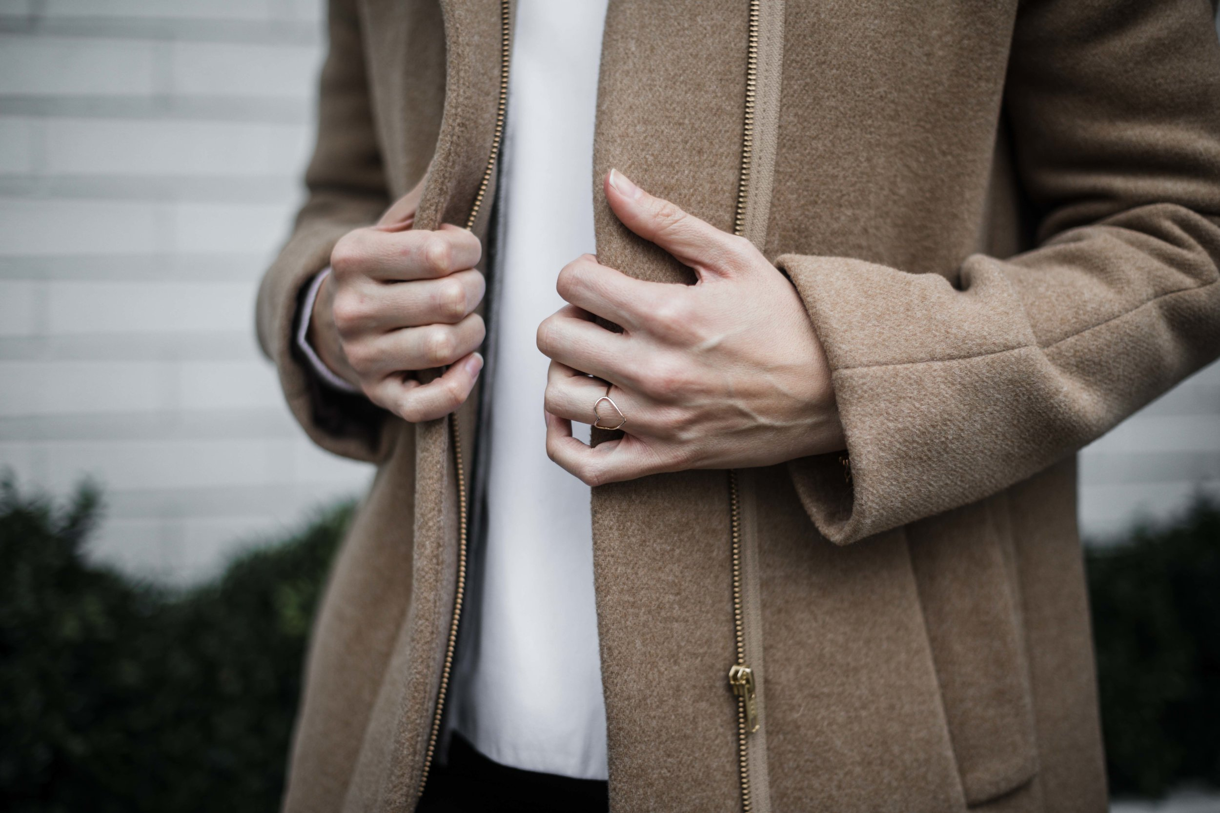 Delicate heart shaped ring by Chicago jewelry designer grace + hudson