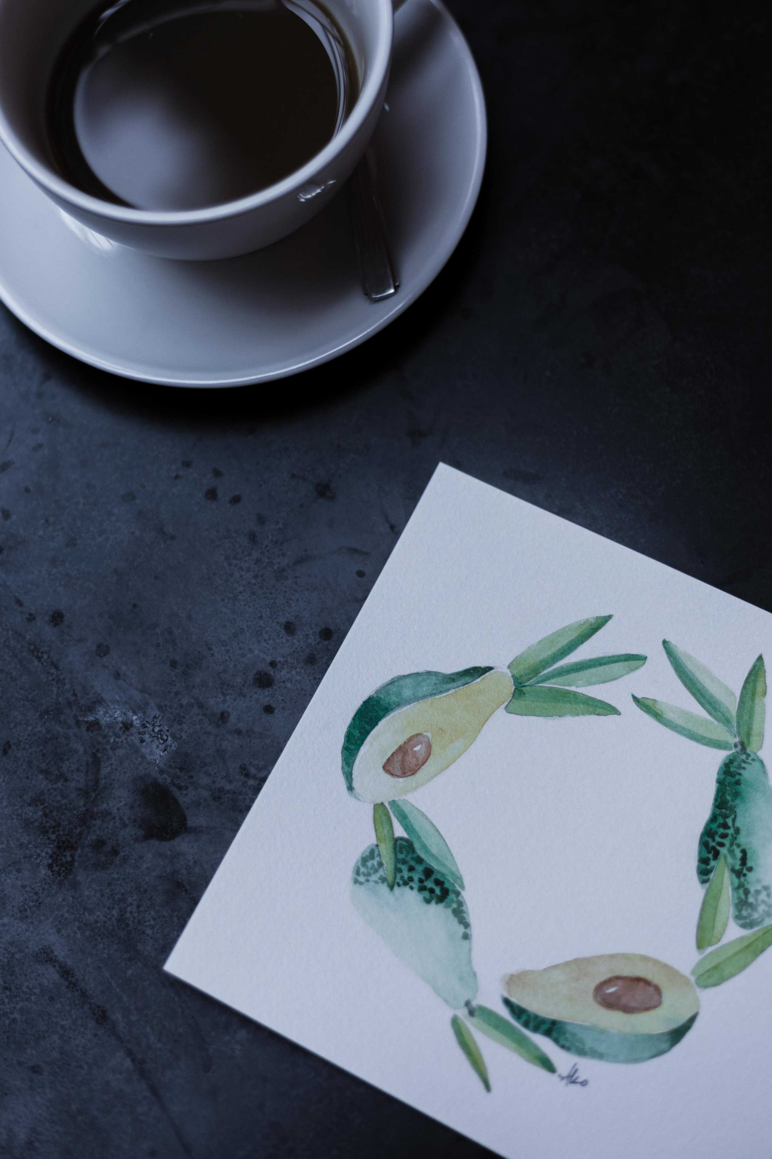 Avocado drawing by Things Unseen Designs in Chicago