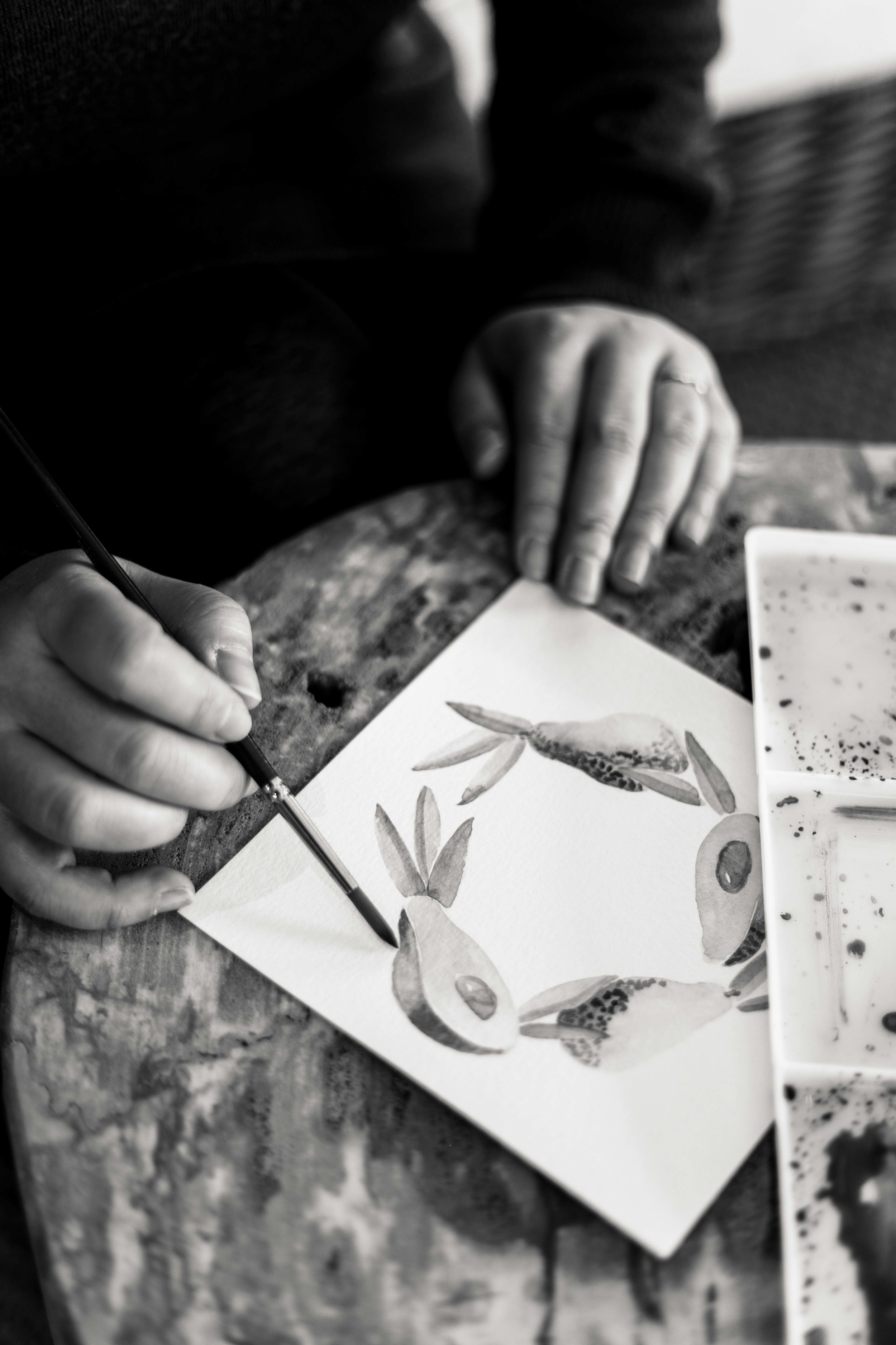 Calligrapher and water color artist interviewed by Chicago portrait photographer Katharine Hannah