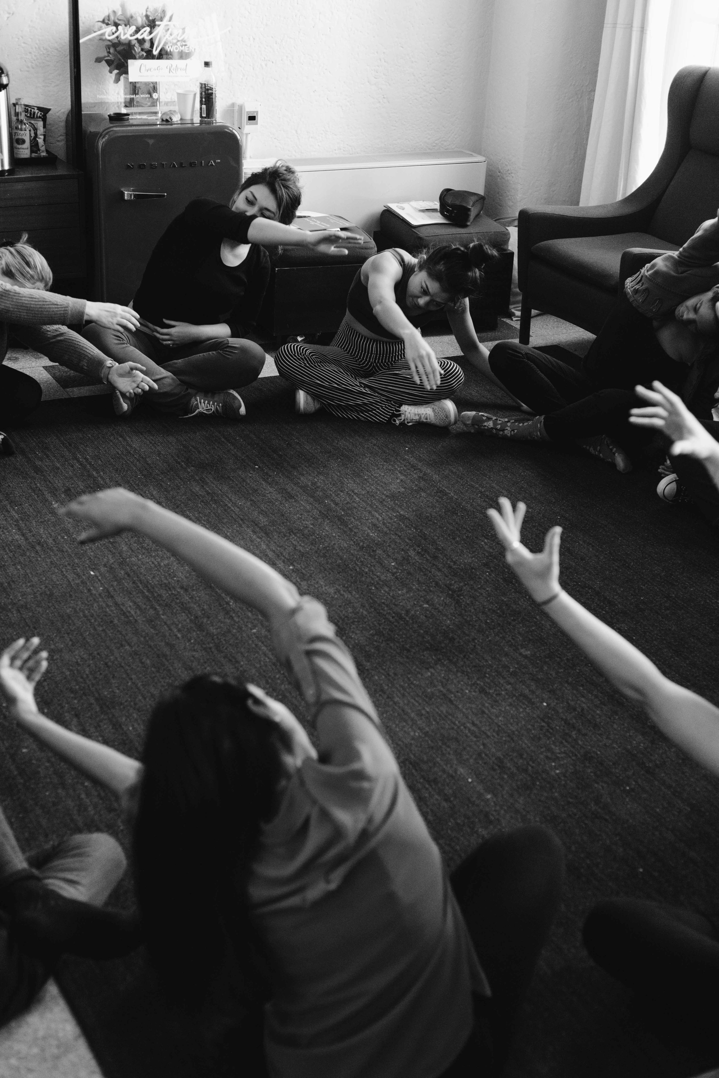 Dance class taught by Design Dance for Creative Women's Co. Chicago Retreat at the Freehand Hotel
