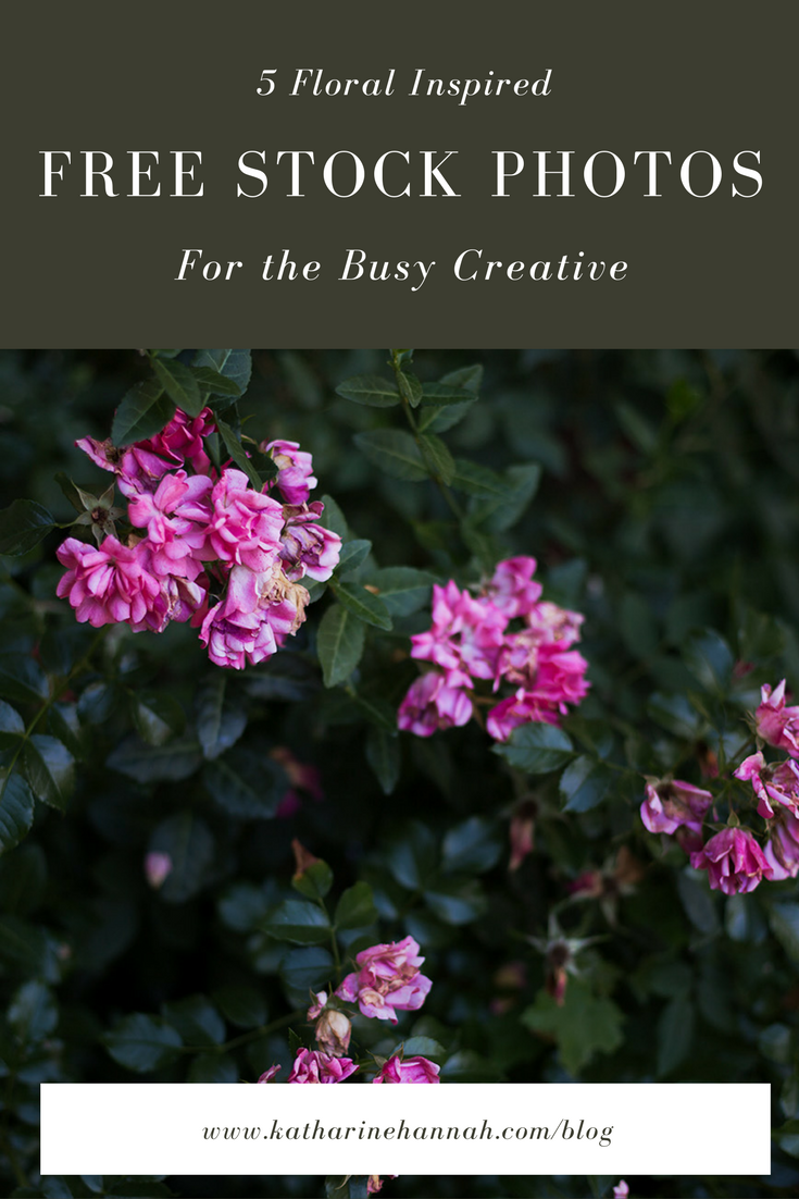 Free floral inspired stock photos for creative entreprenurs to use in their spring marketing
