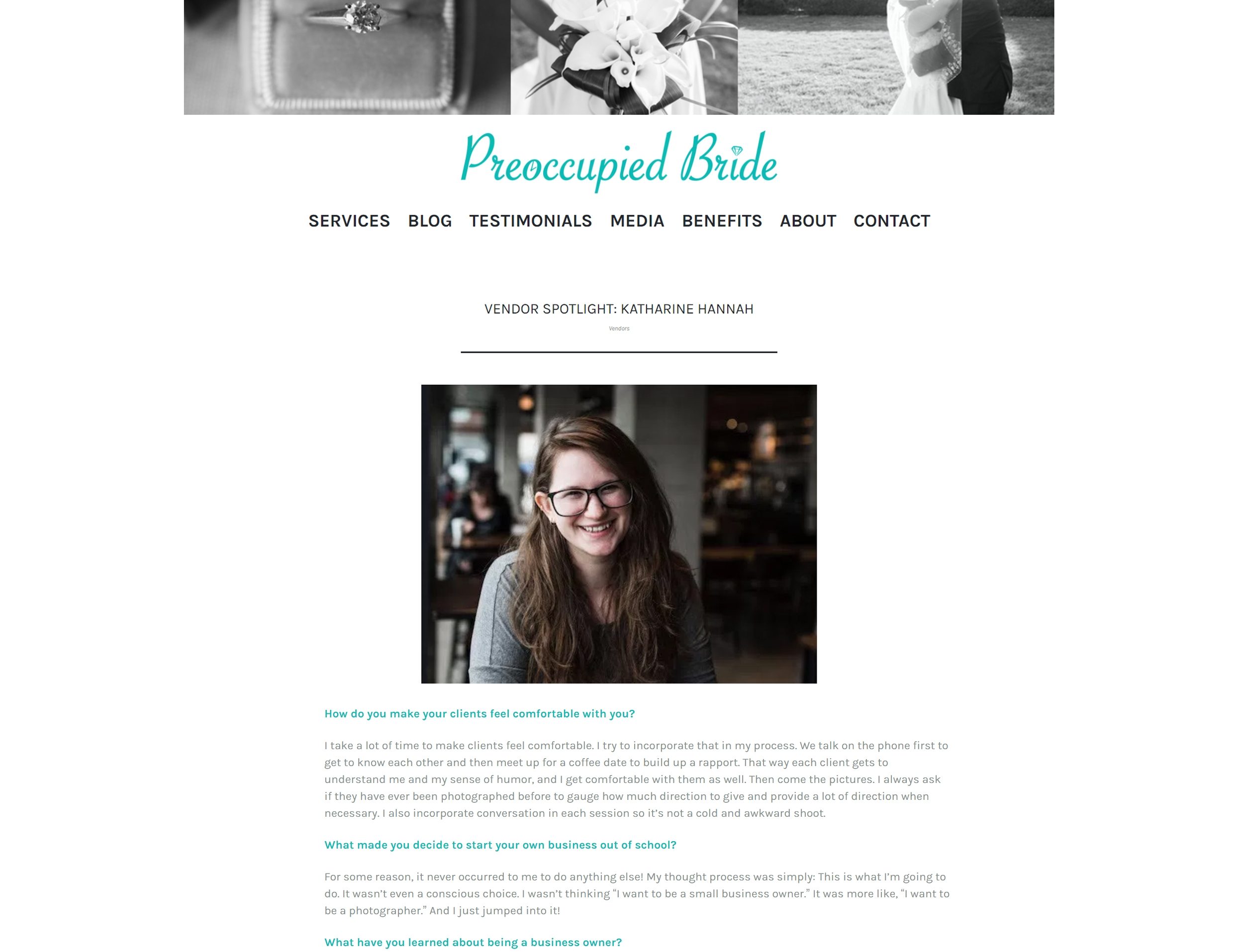 Katharine Hannah Photography interviewed by Preoccupied Bride