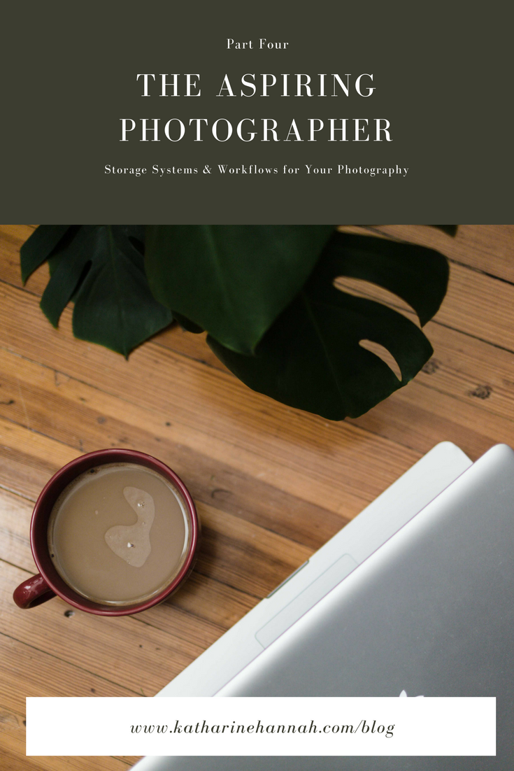 The Aspiring Photographer Series shares advice for new photographers on storage systems and workflows for safeguarding their photos and client work