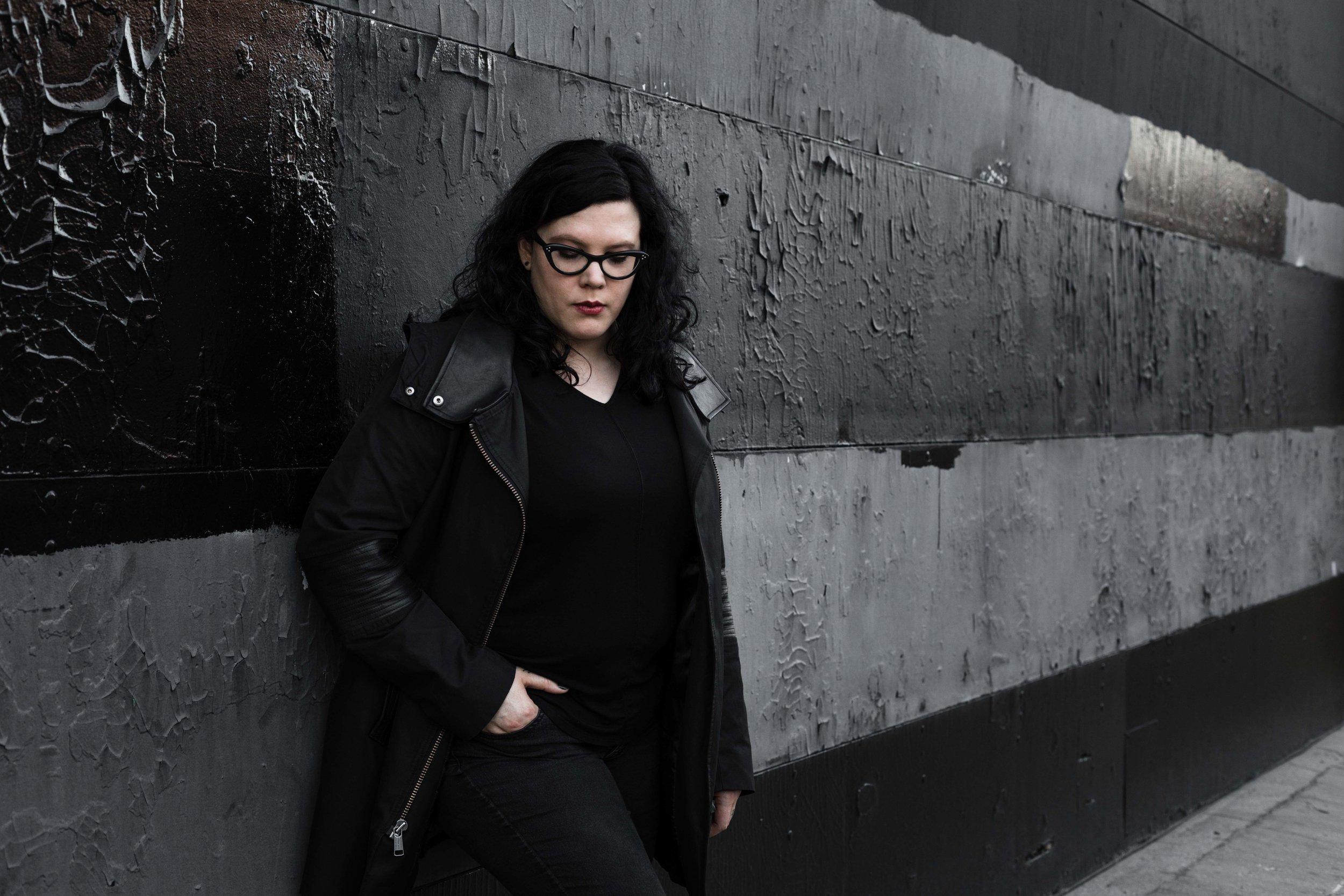 Chicago personal branding photographer Katharine Hannah photographs feminist author Layne Fargo