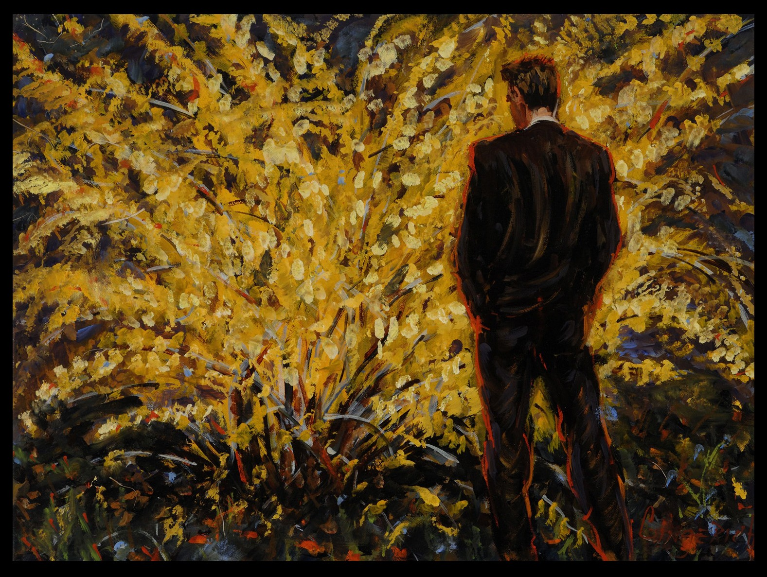 Contemplating Yellow  18 x 24 inches, oil on canvas