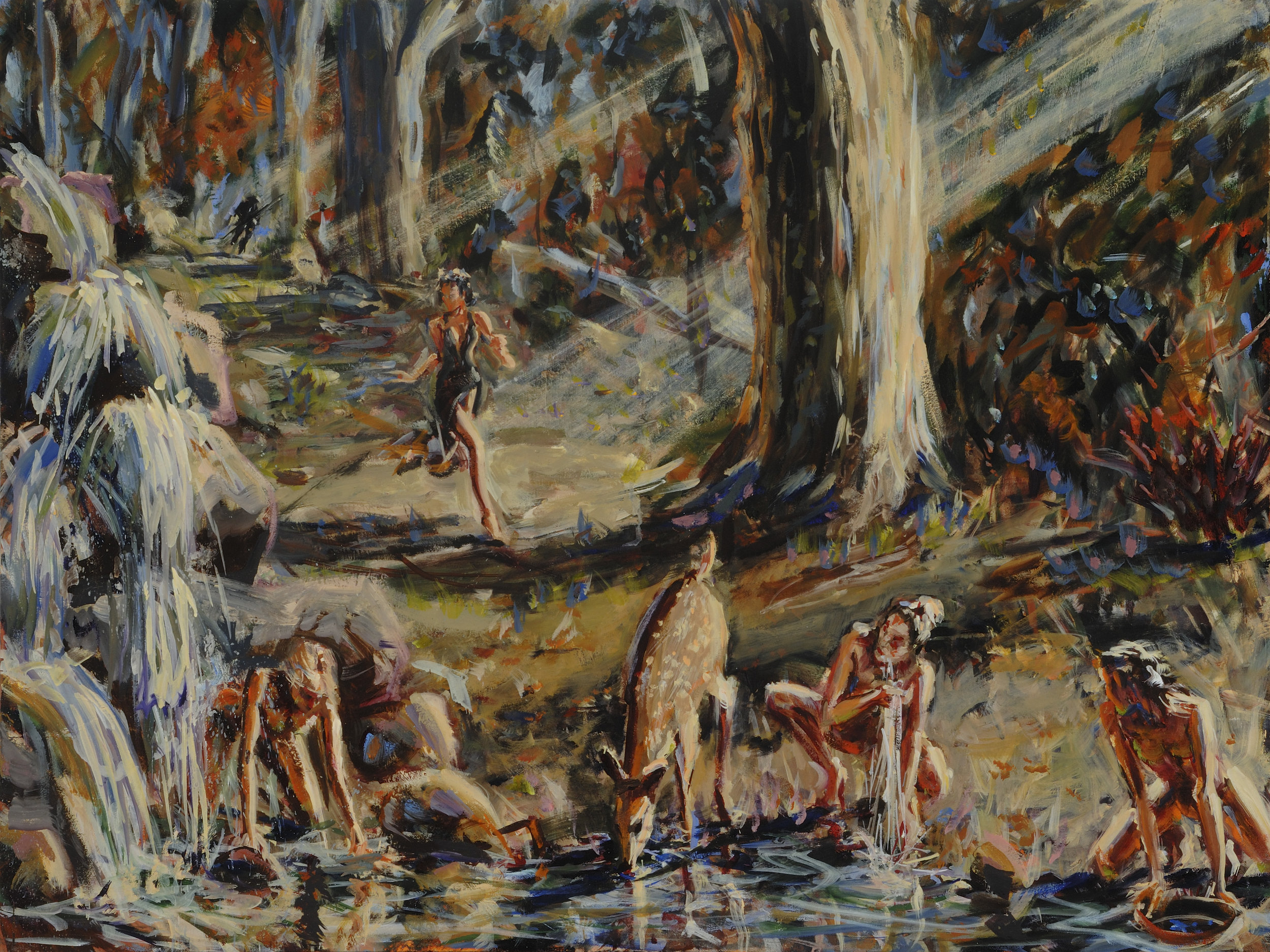 Deep Woods  30 x 40 inches, oil on canvas