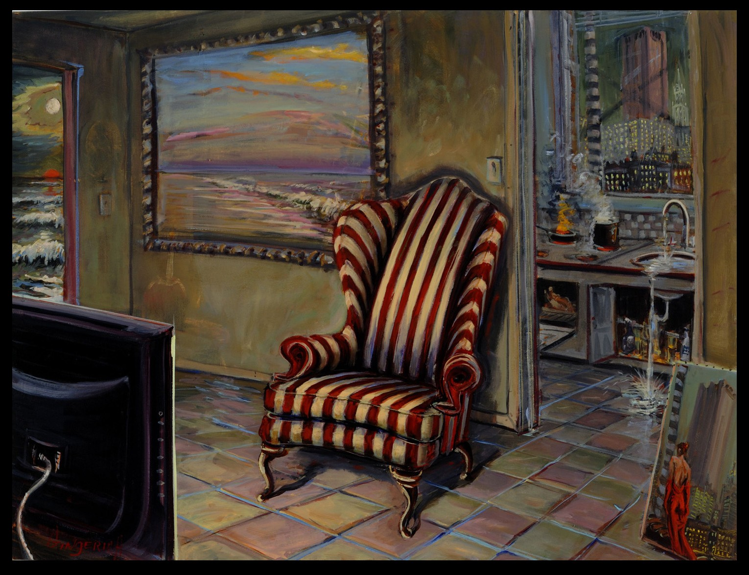 Room  40 x 53 inches, oil on canvas