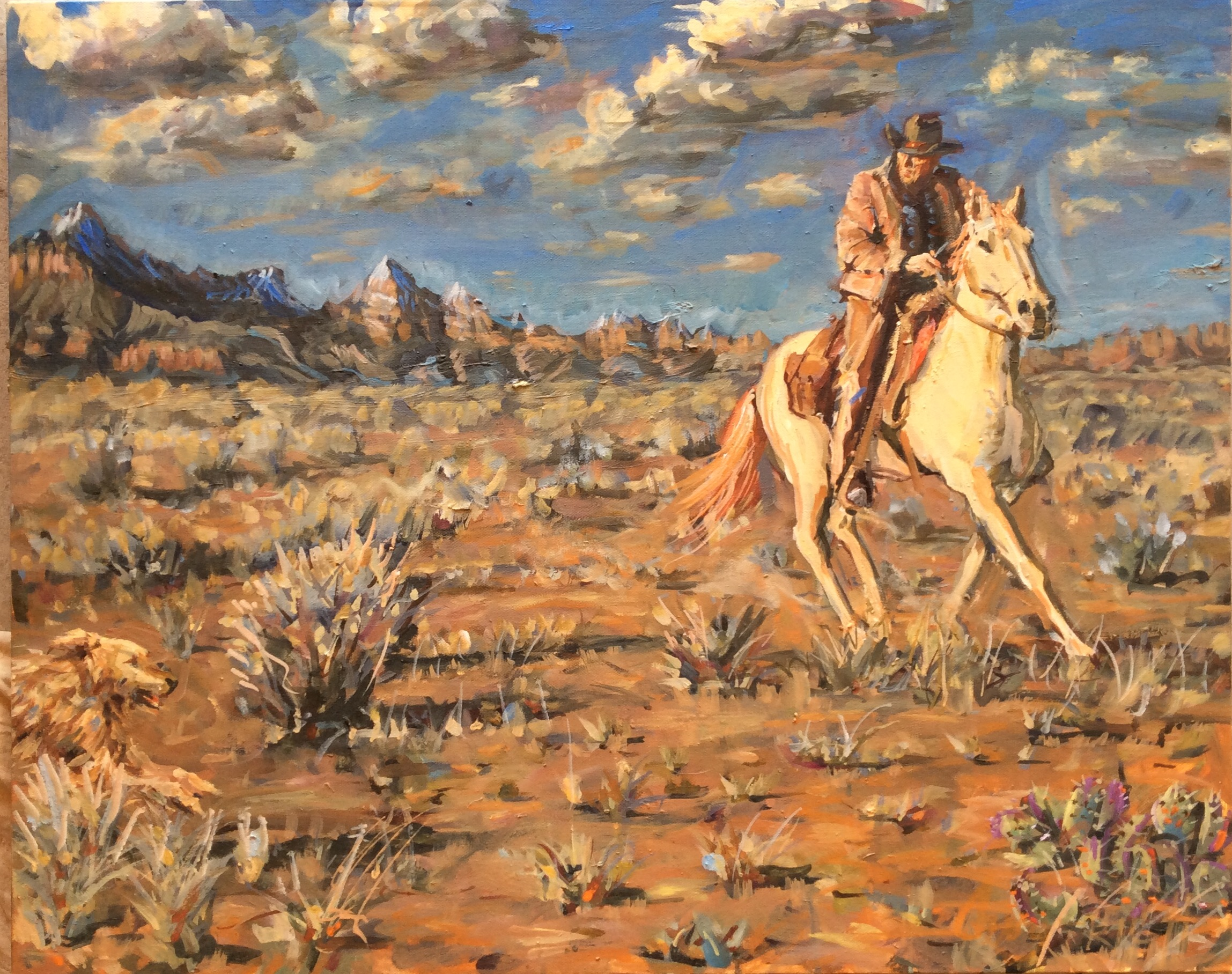 Riding the High Desert  24 x 30 inches, oil on canvas