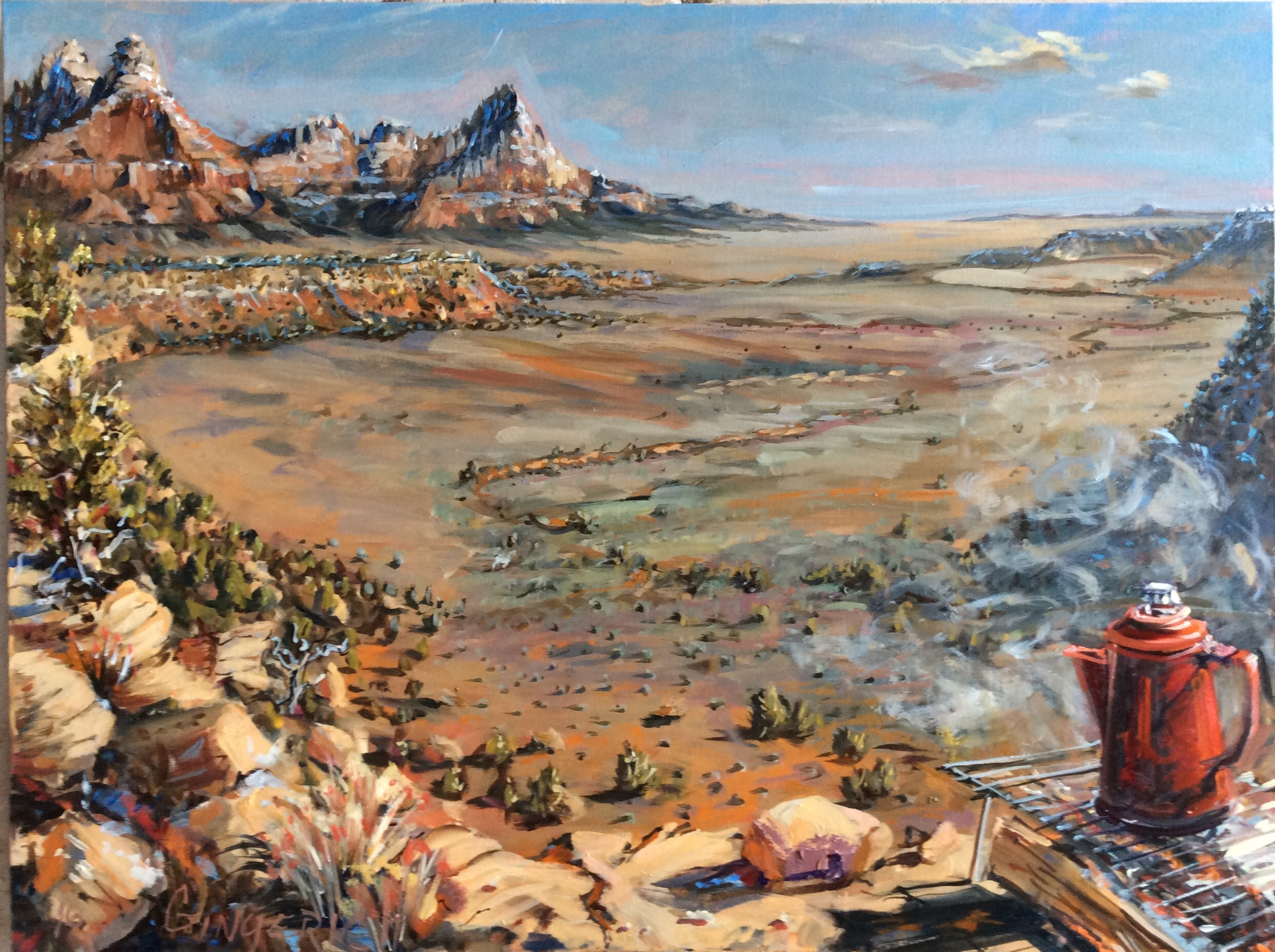 Up on Gooseberry Mesa  30 x 40 inches, oil on canvas