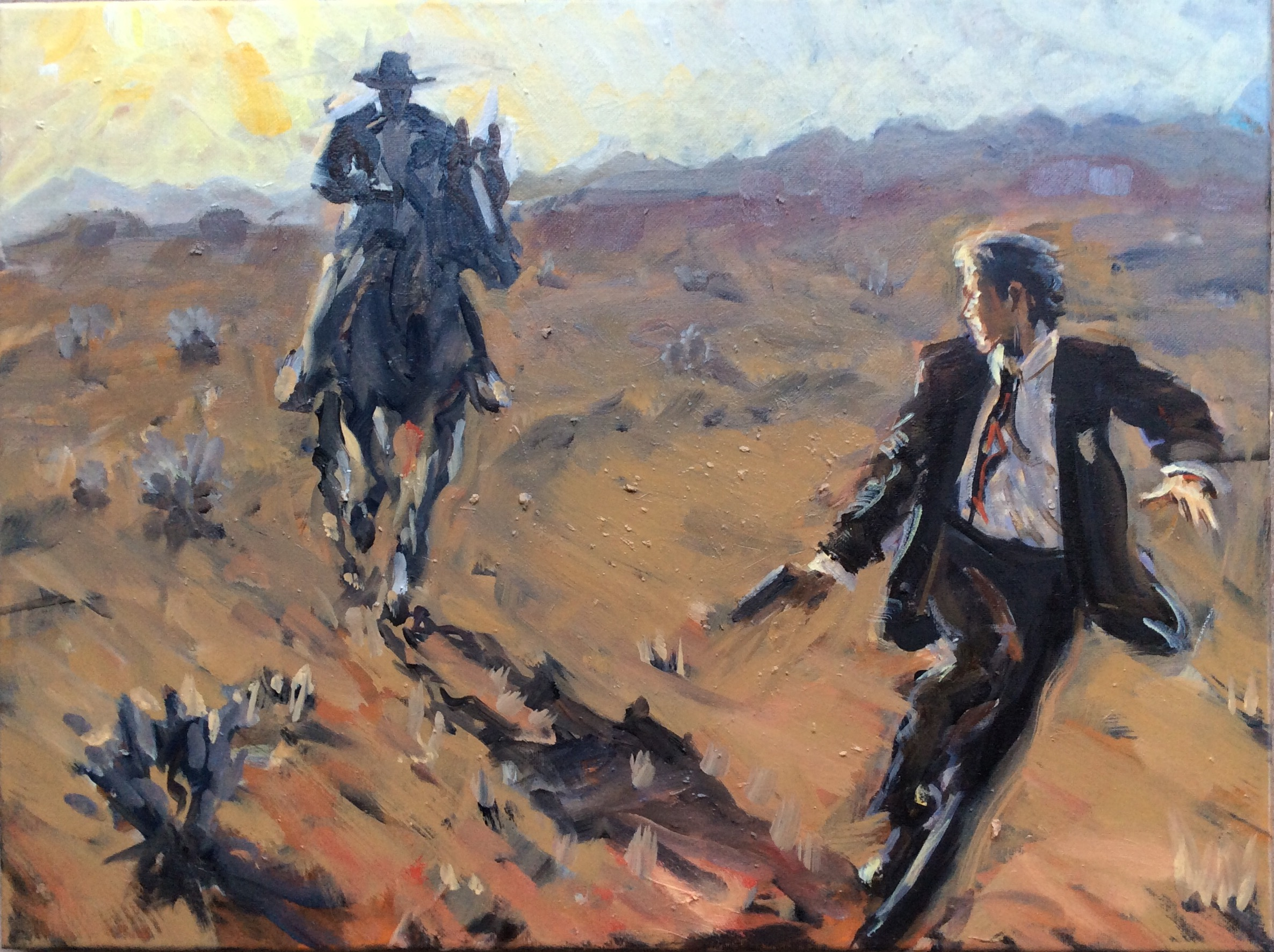 Gambler on the Run  20 x 24 inches, oil on canvas