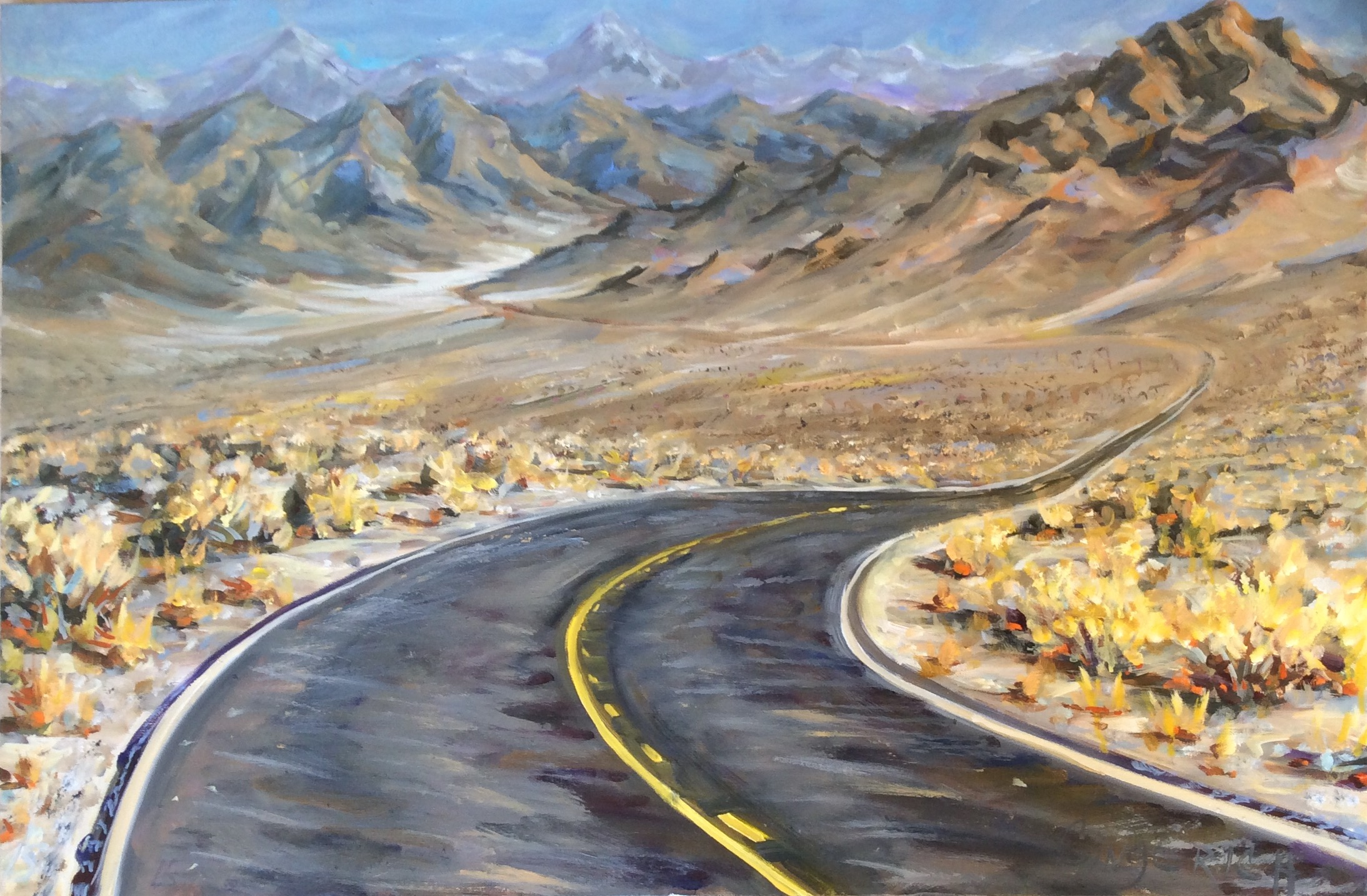 Sierra Bound  30 x 40 inches, oil on canvas