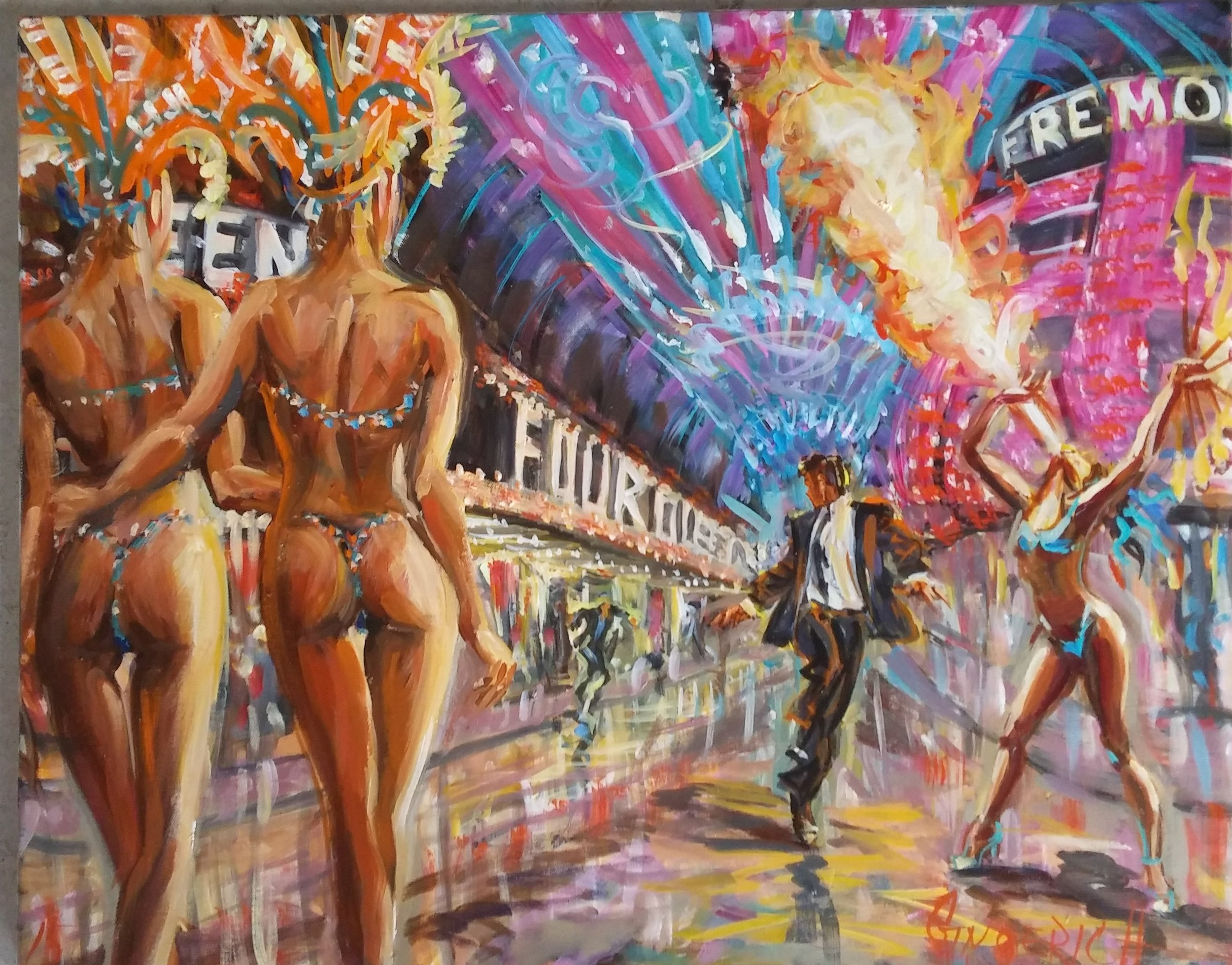 Show Girls on an Off Night  24 x 30 inches, oil on canvas