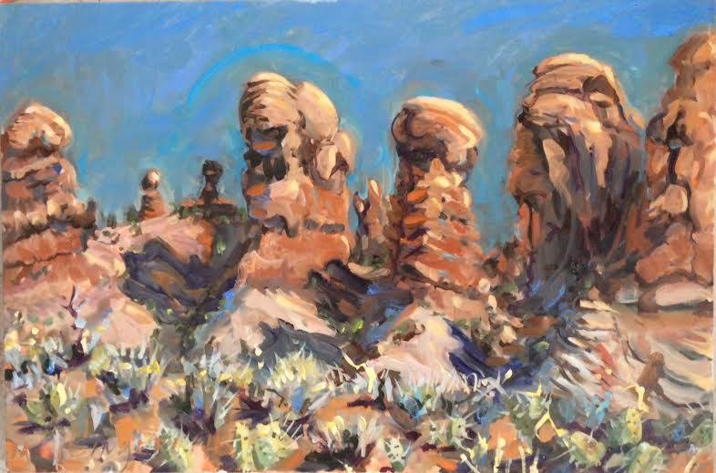 Moab Goblins  24 x 30 inches, oil on canvas