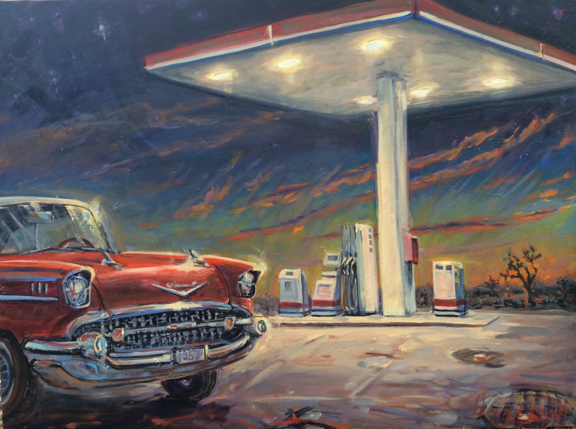 57 Chevy  36 x 48 inches, oil on canvas