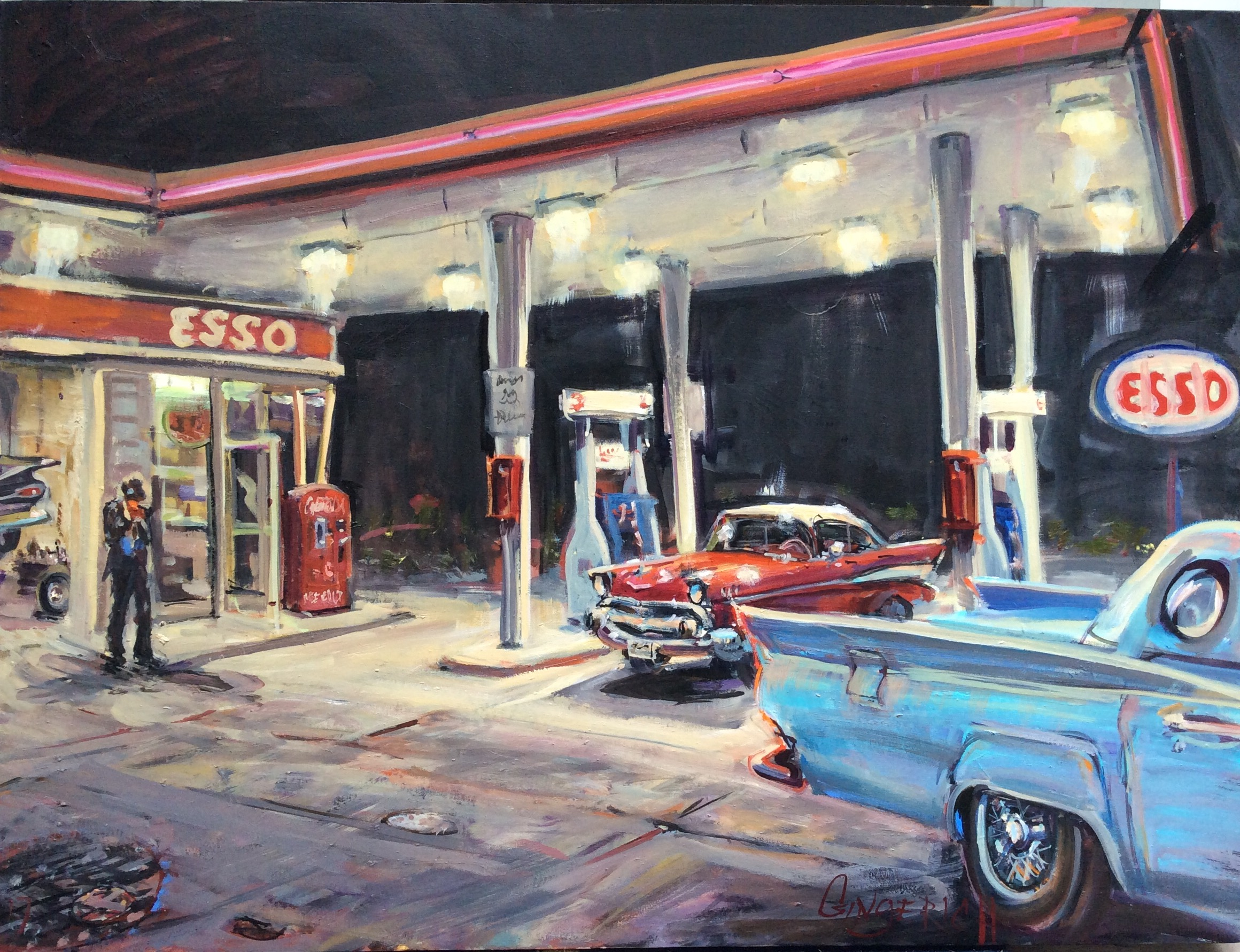 Esso  30 x 40 inches, oil on canvas