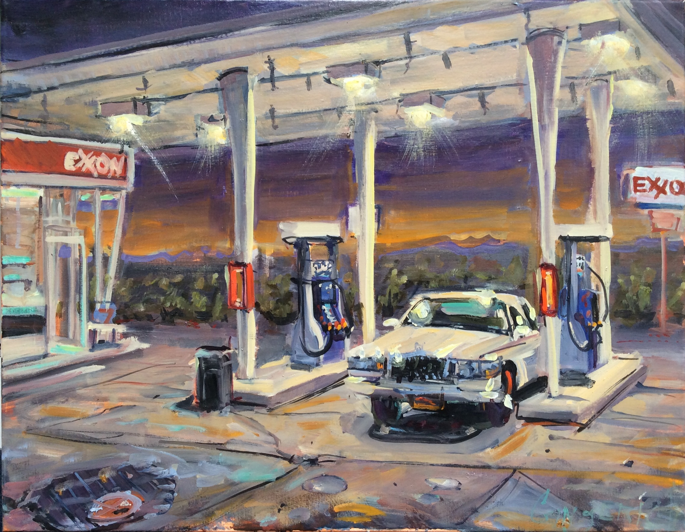 Exxon  22 x 28 inches, oil on linen