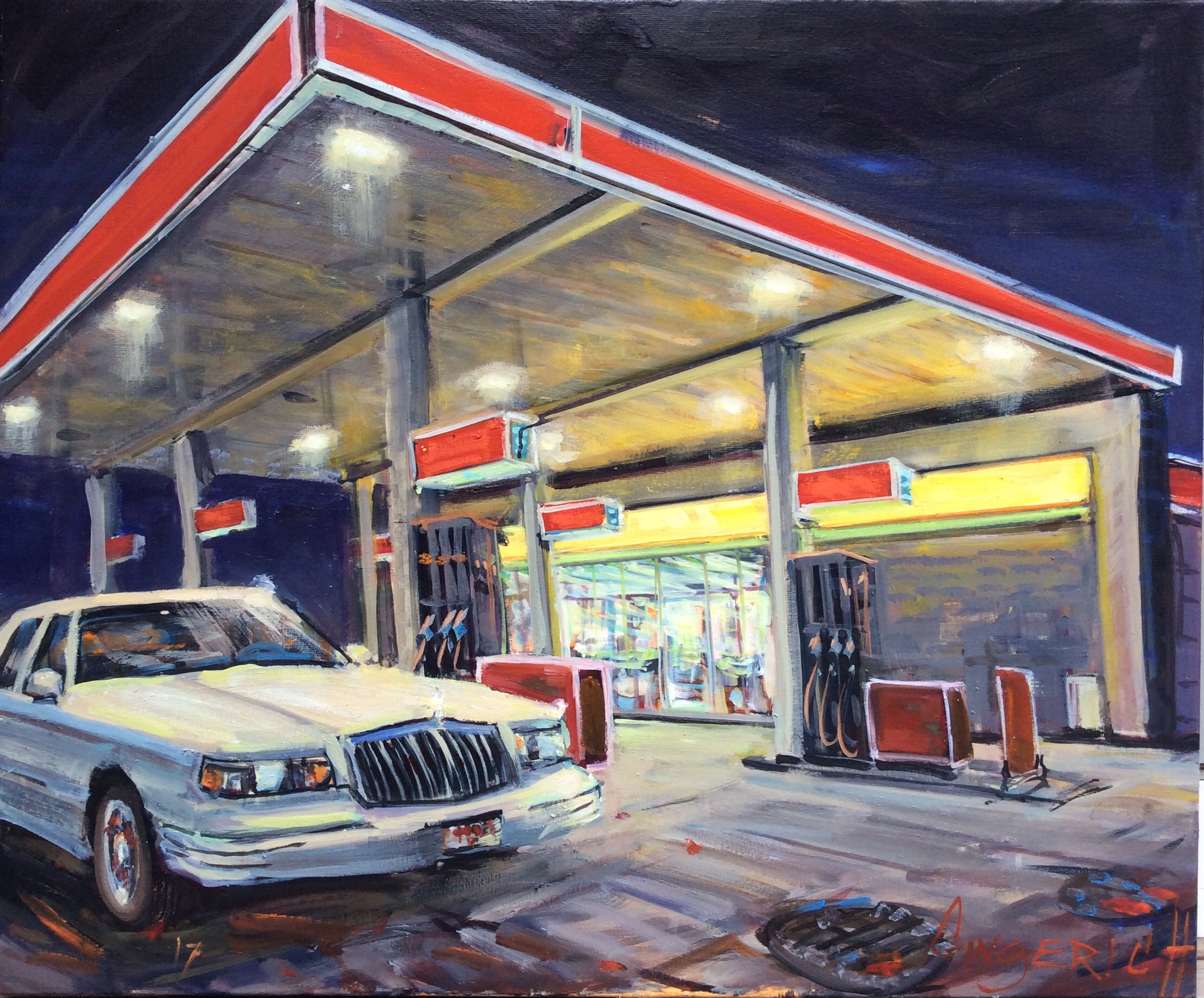 Gassed Up  30 x 36 inches,  oil on linen