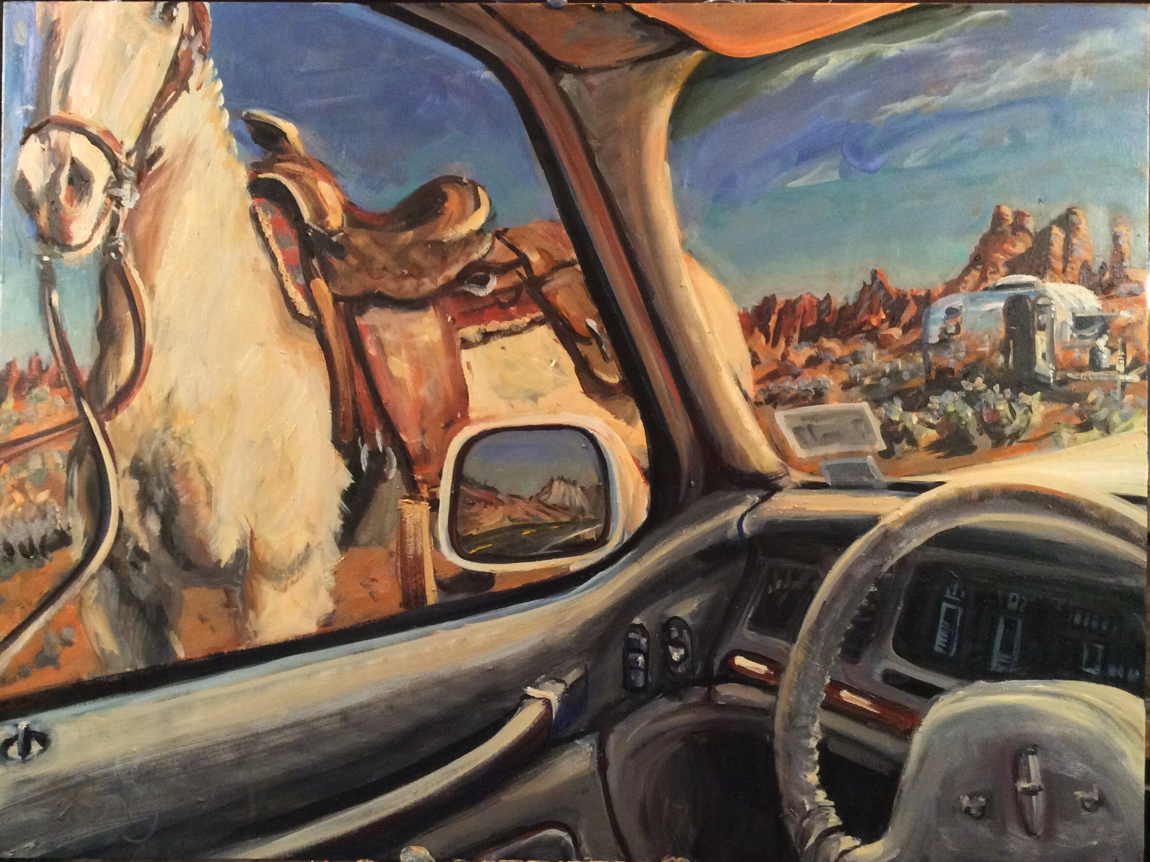 Airstream  30 x 40 inches, oil on canvas