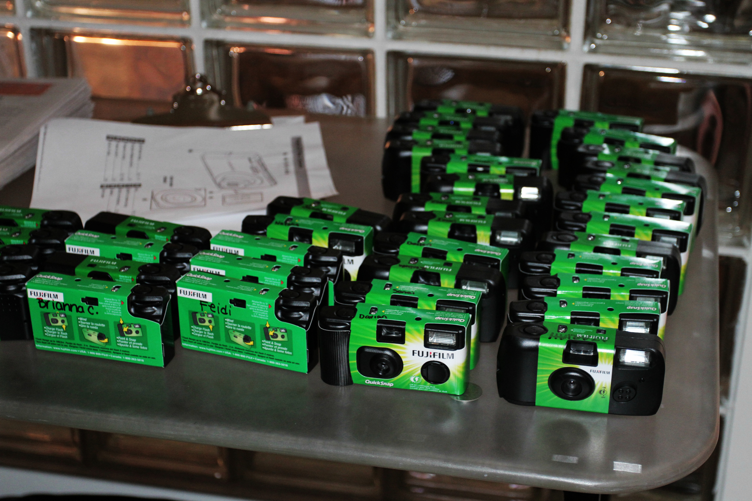 FujiFilm cameras provided to the students.