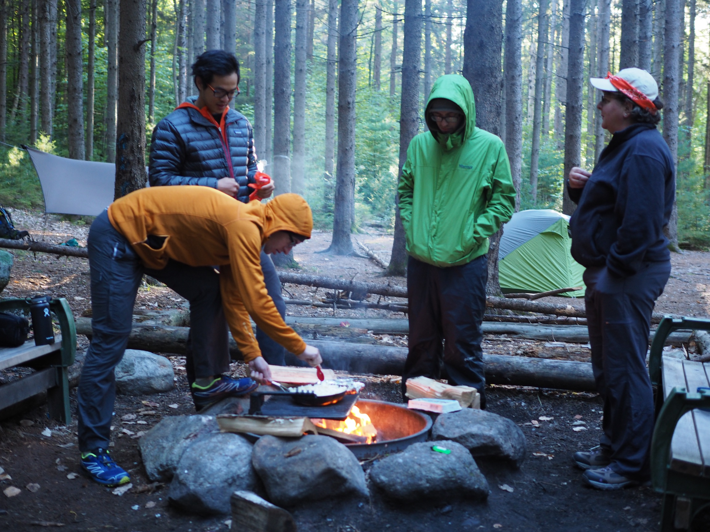 Talking around the camp fire (image credit: M. Swoveland)