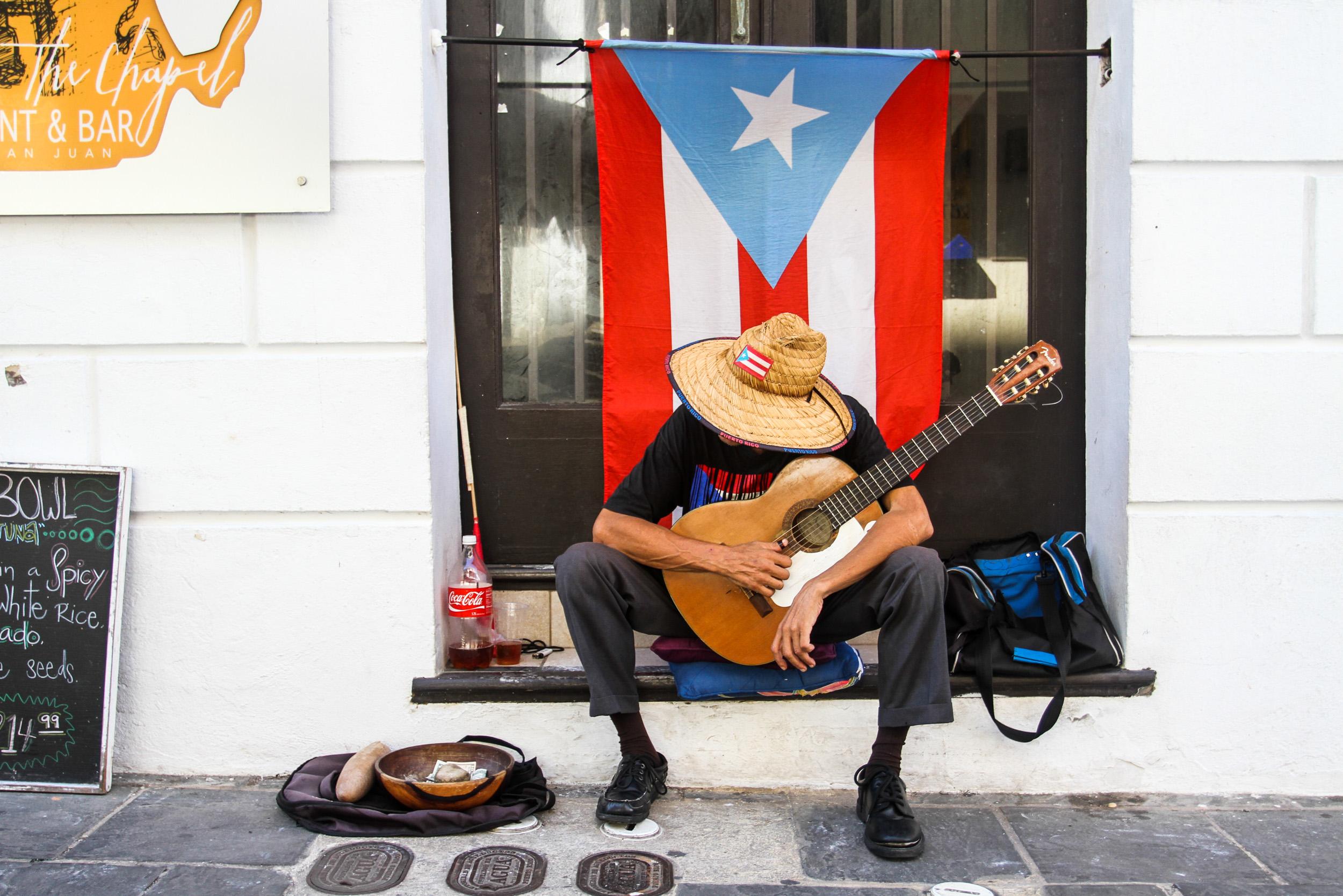 """Carlos takes a break between sessions"" (Old San Juan, Puerto Rico 2017)"