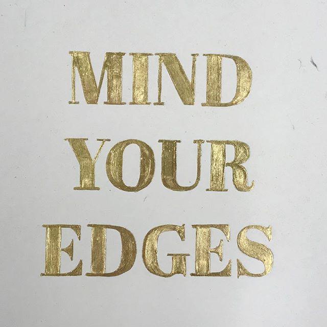 22 karat gold leaf on paper #newwork #gilding #mindyouredges #details