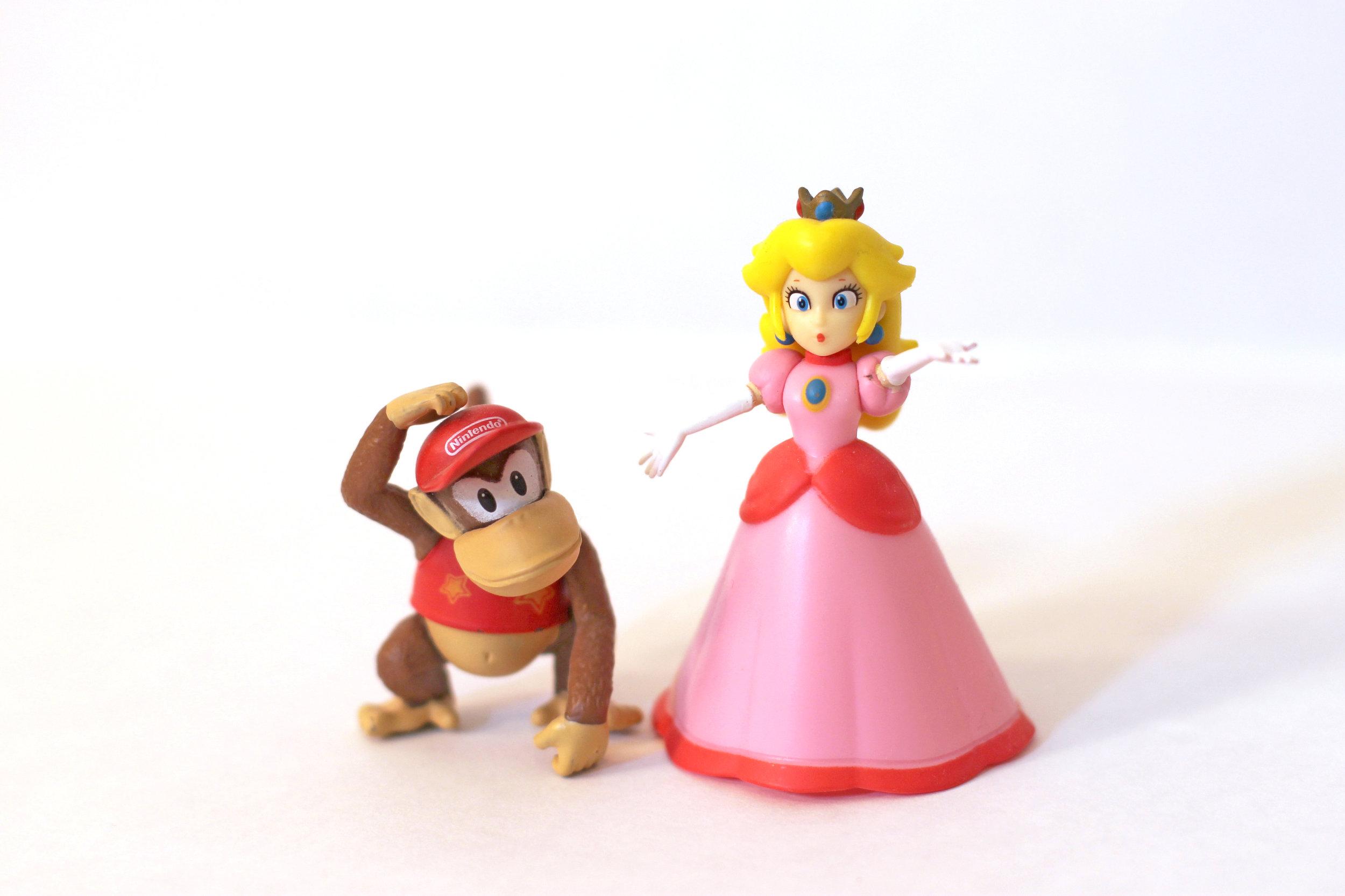 Princess Peach and Diddy Kong