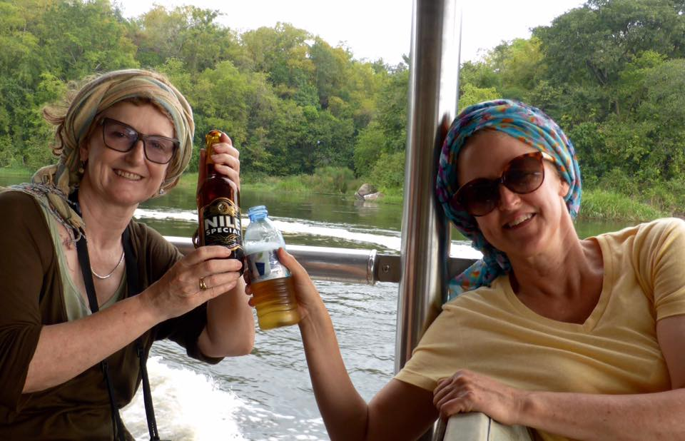 Having Nile special beer at the Mighty River Nile.