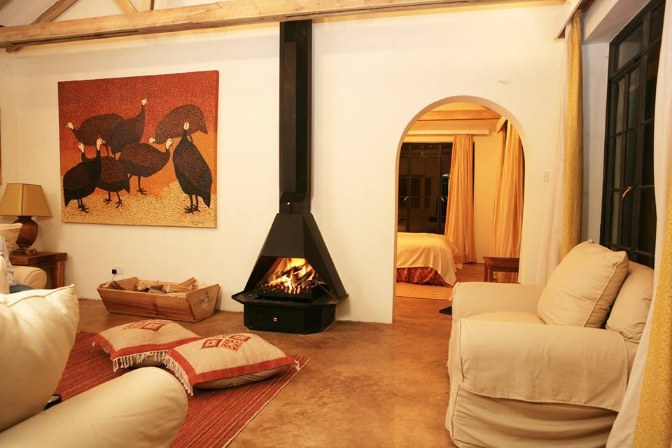 Fire place at the lounge is all waht you will need after the forest hike inside the impenetrable forest.