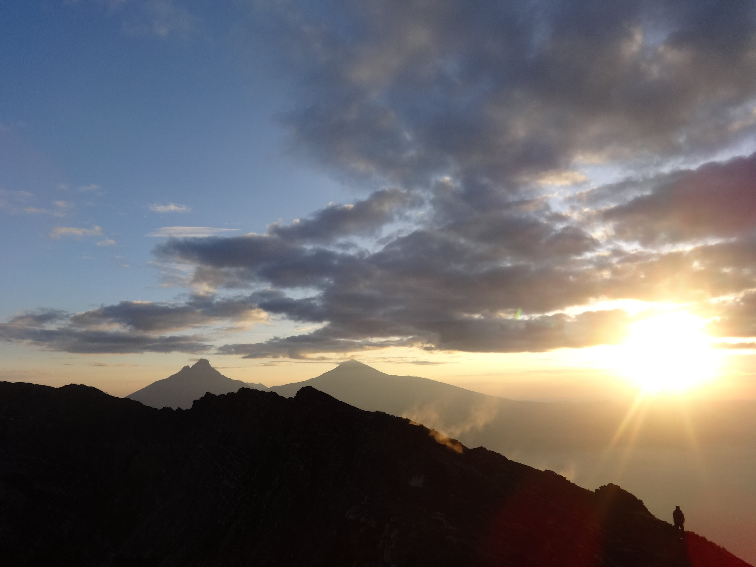 The morning gift of asunrise was the best way to windup the volcano trek