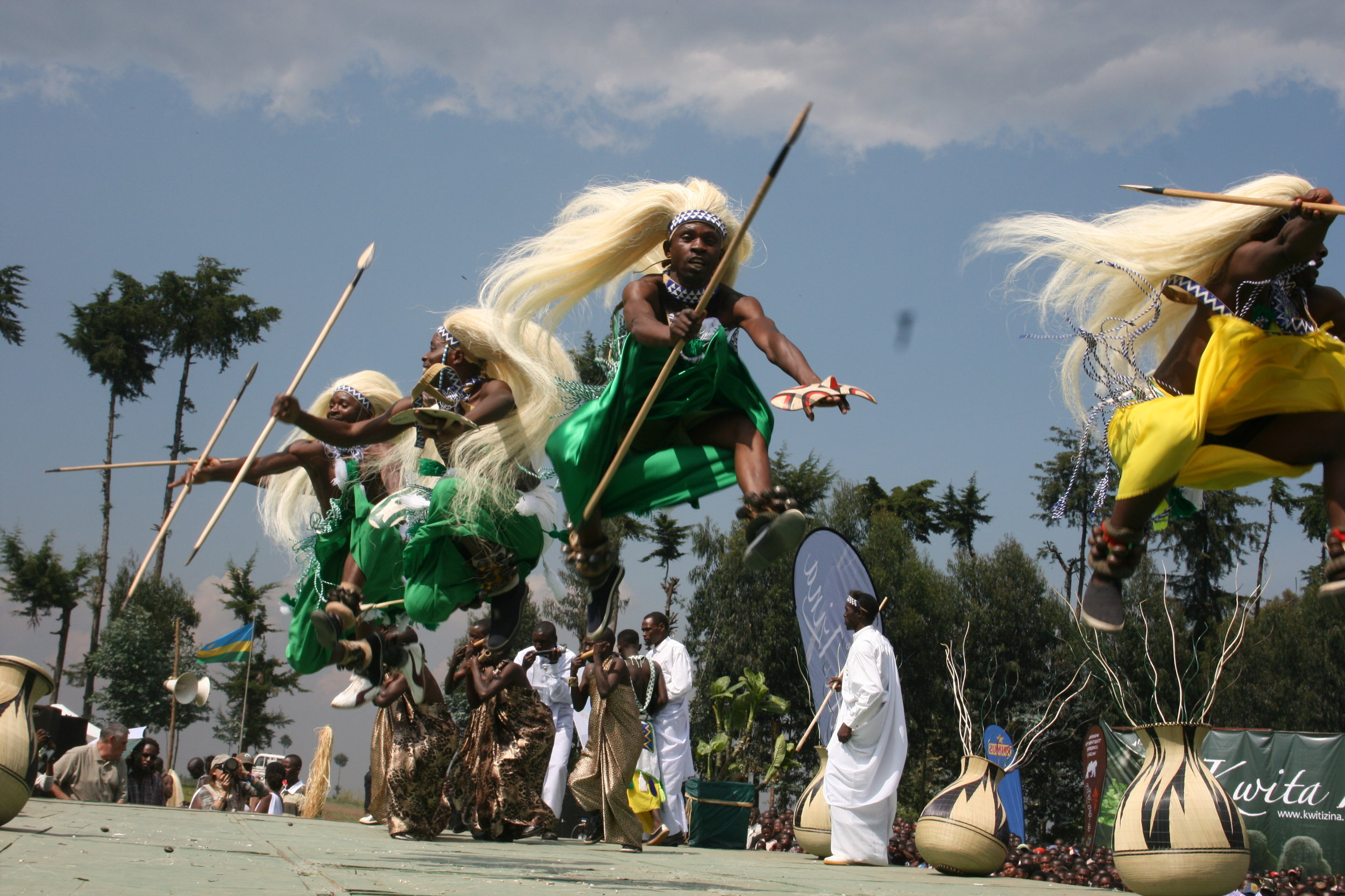 How high the Intore dancers can jump to embrace the gorilla naming ceremony.jpg