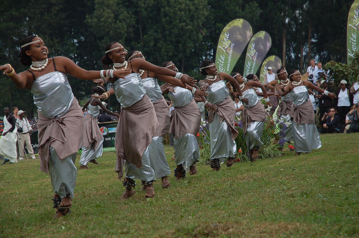 Traditional entertainment at Kwita Izina in Rwanda.jpg