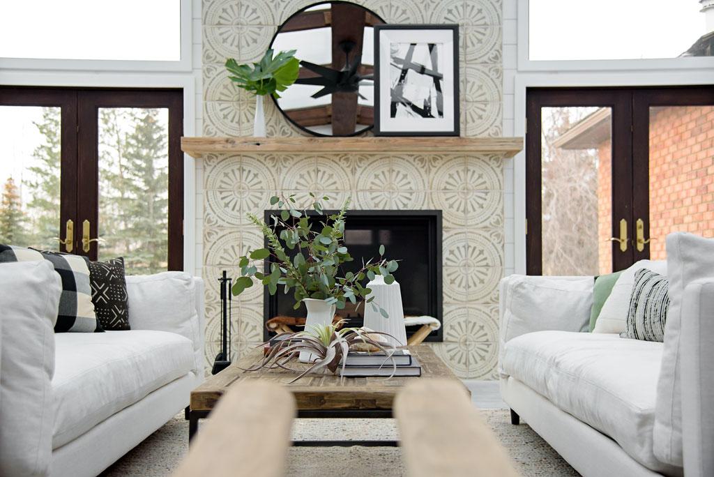 |  Terracotta fireplace tile  |  Mirror  |