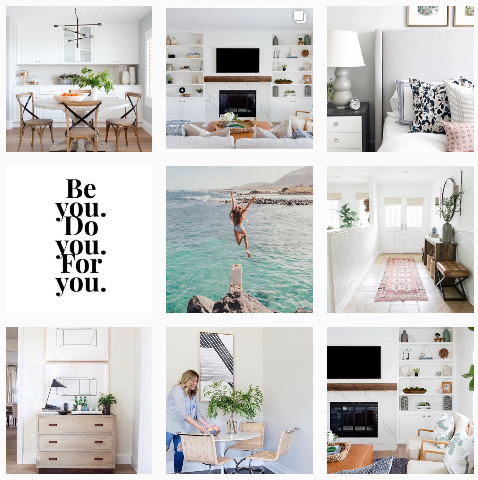 Lets start with Lindsey Borchard from  Lindseybrookedesigns . Lindsey is an interior designer from Southern California and we are inspired by her light and fresh feed. Not only do we love her design work but also her inspirational and funny quotes.