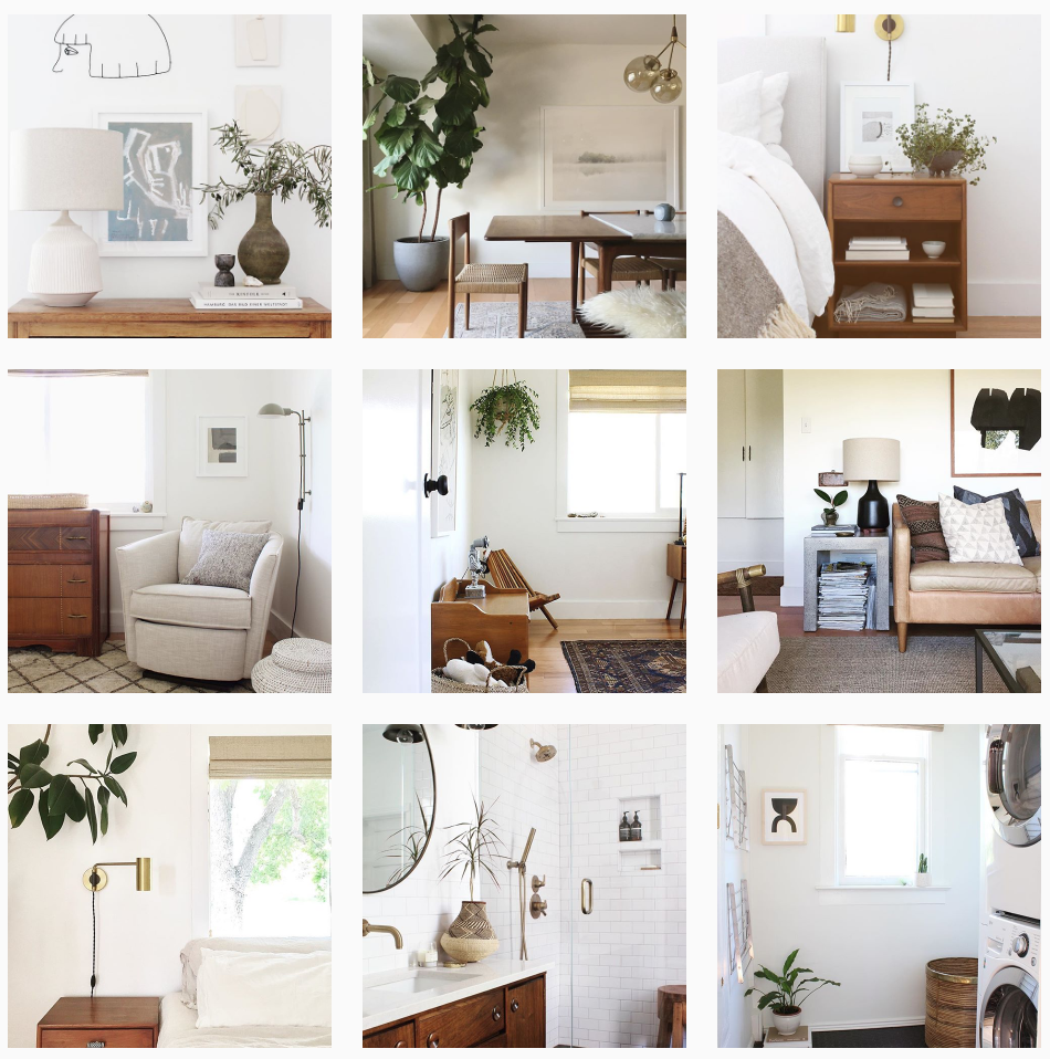 Next up we have  Annabode + Co , a husband and wife duo from Denver, Colorado. Their feed is full of images from houses that they have styled; typically featuring lots of natural elements like wood and greenery. We also love that they share the progress of their own home renovation.