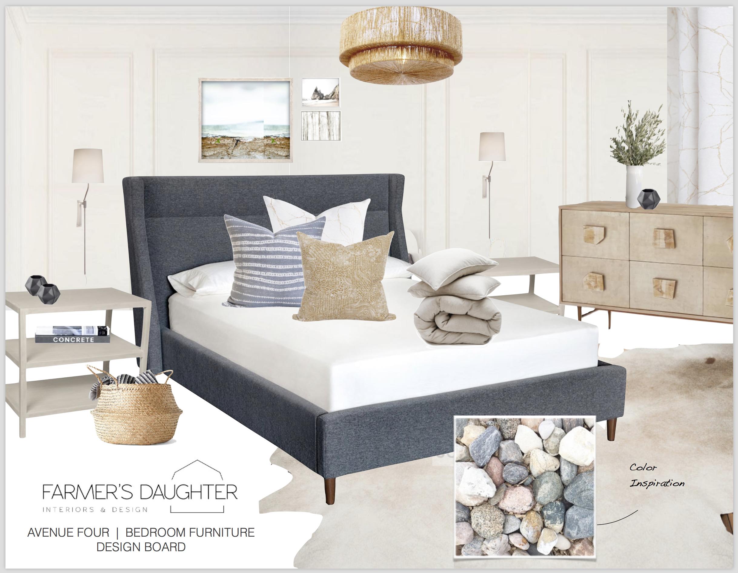DESIGN BOARD - Master Bedroom